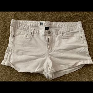 Mossimo supply white jean shorts